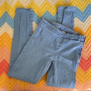 H&M Divided High Waisted Pencil Jeans w/ Side Zip